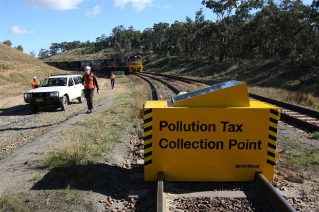 Work disrupted and coal train stopped. As a result over 100 BHP employees had to stop work for a whole day.
