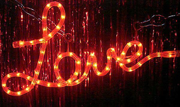 Shaped love rope light aloadofball Images