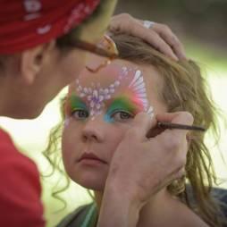 Rachel Brady face painting Garden of Earthly Delights festival