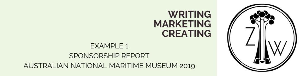 example 1 sponsorship report Zoe Wood Creative